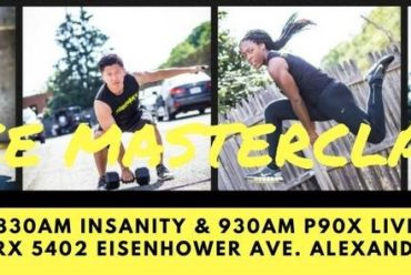 Beachbody LIVE (Insanity and P90X) at the Worx by Maia Alexandria, VA August 13, 2016